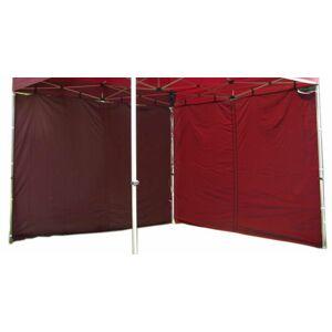 Garthen PROFI 424 Sada 2 bočních stěn pro zahradní stan 3 x 3 m - vínová