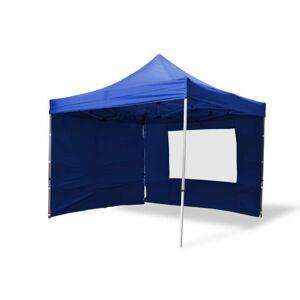 Garthen 6377 Zahradní párty stan nůžkový PROFI 3x3 m modrý + 4 boční stěny
