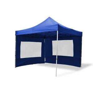 Garthen 2487 Zahradní párty stan nůžkový 3x3 m, modrý + 4 boční stěny