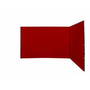 Garthen Sada 2 bočních stěn k PROFI nůžkovému stanu - červené D27312