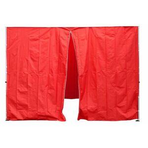 Garthen Sada 2 bočních stěn pro PROFI zahradní stan 3 x3 m červená D30693
