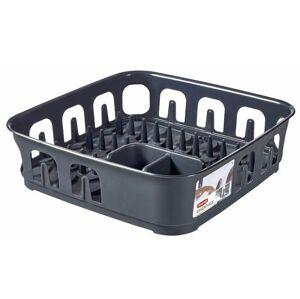 CURVER ESSENTIALS 31851 Odkapávač nádobí čtverec - tm.šedý