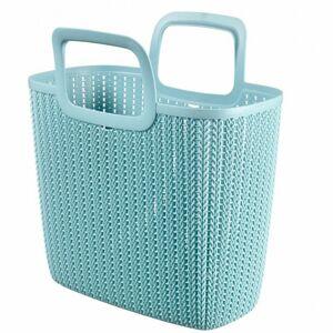 Nákupní taška KNIT - šedomodrá 226383