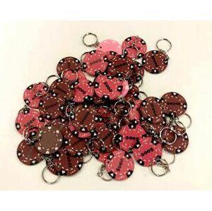 Přívěsek na klíče Pokerový hnědá růžová