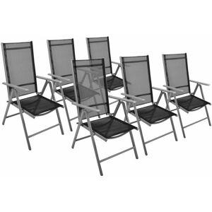 Garthen 38580 Zahradní sada 6 x skládací židle - černá