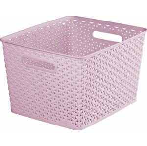 CURVER KOŠ PLASTOVÝ box - L - růžový R41155