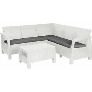 Allibert CORFU RELAX 41478 Zahradní set bílá + šedé podušky