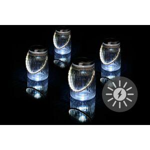 Garthen 43246 Sada 4 kusů solárního osvětlení - závěsná sklenice