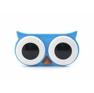 Pouzdro na kontaktní čočky sova modrá