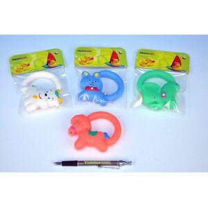 Teddies hračka s úchytem gumová 10cm asst 5 druhů v sáčku