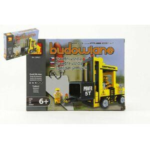 Teddies Dromader Auto Vysokozdvižný Vozík 29501 Stavebnice 206ks v krabici 25,5x18,5x4,5cm
