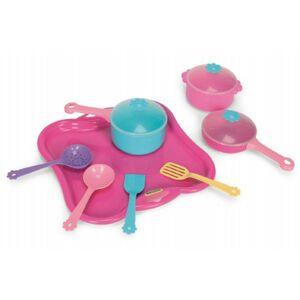 Party World Wader Tác s hrnky nádobí plast 11 ks růžový 28x28x10cm