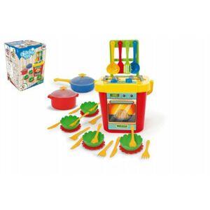 Party World Wader Kuchyň s nádobím plast 31ks v krabici 30x43x30xcm