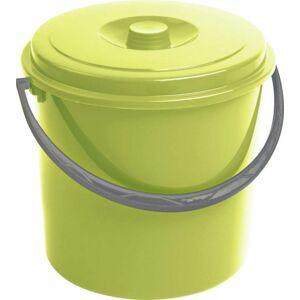 Curver kbelík s víkem zelený 10 l 03206-114