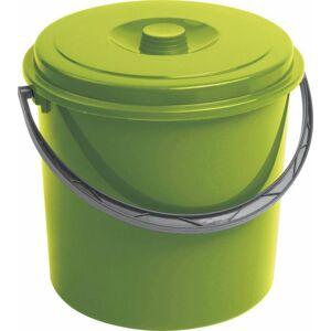 Curver kbelík s víkem zelený 16 l 03208-114