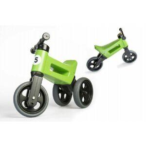 Teddies Funny Wheels Sport 2v1 zelené s gumovými koly