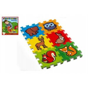 Teddies puzzle Moje první zvířátka 15x15x1 2cm MPZ 6 ks