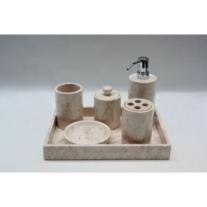 Indera Cream 57076 Kamenná koupelnová sada
