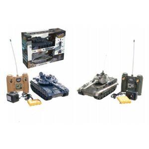 Teddies 58805 Tank RC 2ks 36cm+dobíjecí pack tanková bitva se zvukem se světlem v krabici