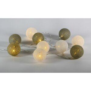 Nexos 57399 LED světelná dekorace - tkaná koule - 10 LED teple bílé