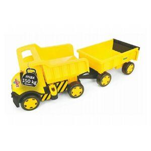 Wader Auto Gigant Truck + vlečka plast v krabici 55x60x32 cm
