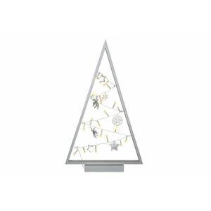 Světelná dekorace šedá - Vánoce - 20 LED teple bílá Nexos D57417