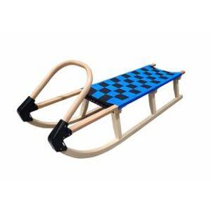 Plastkon sáně 125 cm dřevěné 05-A2042 modrá