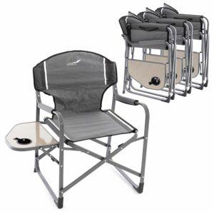 Garthen 66332 4x kempinková rozkládací židle se stolkem a držákem nápojů