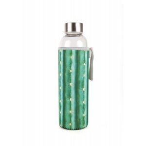 Skleněná láhev s kaktusovým obalem