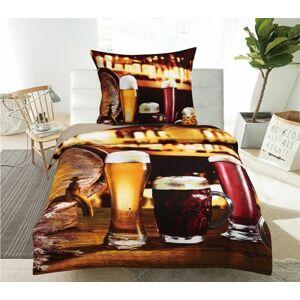 JAHU collections 3D POVLEČENÍ - Beer 140x200 70x90
