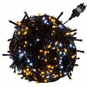 VOLTRONIC® 67592 Vánoční řetěz - 5 m, 50 LED, teple/studeně bílý