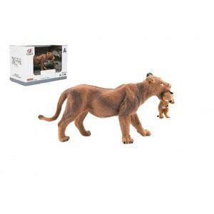 Teddies Zvířátka safari ZOO 13cm lvice plast 1ks v krabičce 16x11x9,5cm