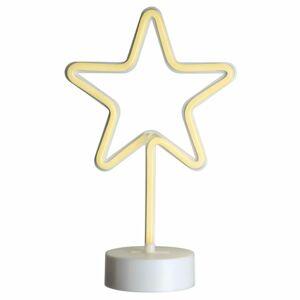 Nexos 64657 Vánoční dekorace svítící hvězda na stojánku - 88 LED, 30 cm