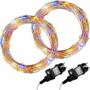 VOLTRONIC 68033 Sada 2 kusů světelných drátů - 50 LED, barevná