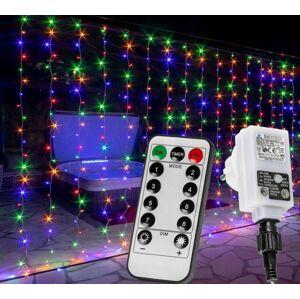 VOLTRONIC 68204 Vánoční světelný závěs - 6 x 3 m, 600 LED, barevný