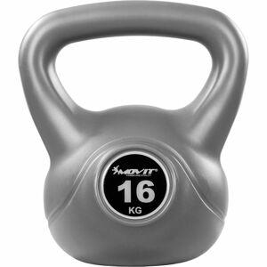 MOVIT® 16 kg Kettlebell šedá