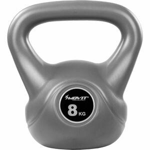 MOVIT® Kettlebell činka šedá - 8 kg