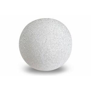 Nexos 57393 Světelná dekorace - LED svítící koule - 12 cm teple bílá