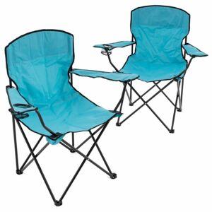 Garthen D70584 Sada 2 skládacích kempingových židlí - světle modrá