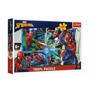 Puzzle Spiderman zachraňuje Disney koláž 41x27,5cm 160 dílků v krabici 29x19x4cm