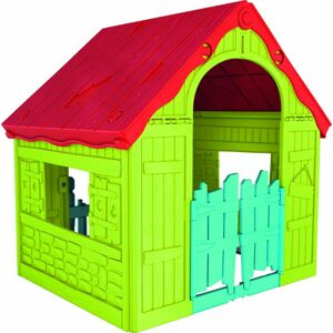 Keter zahradní dětský domek - plastový, červeno/zelený