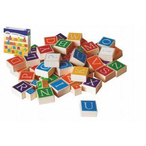Dřevěná abeceda v krabici 23 x 23 x 5 cm