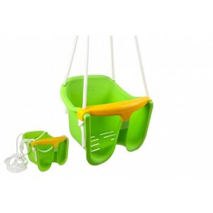 Plastová houpačka, zelená, nosnost 25kg, 12m+