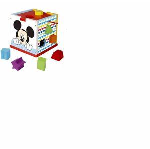 Disney dřevěná kostka s tvary - Mickey Mouse