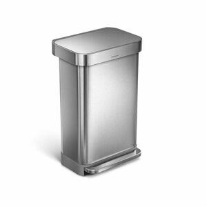 Odpadkový koš Simplehuman pedálový, 45 l, matná ocel