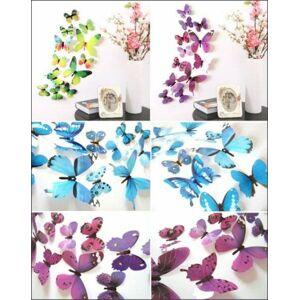 3D motýlci na stěnu - růžová