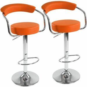 Miadomodo 74094 Sada barových židlí 2 ks, oranžová, 53 x 105 x 52 cm
