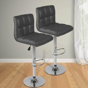 Miadomodo 74111 Sada barových židlí, šedá, 2 ks