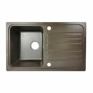 Aquamarin 74250 Granitový dřez, hnědý, 75,9x22x45,9 cm