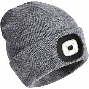 Čepice s LED světlem, šedá